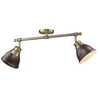 Duncan 2 Light 26 inch Aged Brass Semi-Flush Track Light Ceiling Light in Rubbed Bronze