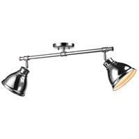 Golden Lighting 3602-2SF-CH-CH Duncan 2 Light 26 inch Chrome Semi-Flush Track Light Ceiling Light