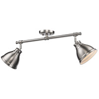 Duncan 2 Light 26 inch Pewter Semi-Flush Track Ceiling Light