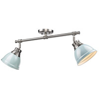 Duncan 2 Light 26 inch Pewter Semi-Flush Track Light Ceiling Light in Seafoam