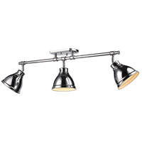 Duncan 3 Light 35 inch Chrome Semi-Flush Track Light Ceiling Light