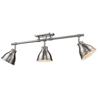 Duncan 3 Light 35 inch Pewter Semi-Flush Track Light Ceiling Light