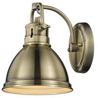 Duncan 1 Light 7 inch Aged Brass Bath Vanity Wall Light