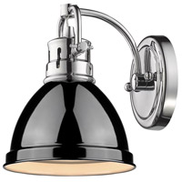 Golden Lighting Duncan 1 Light Bath Fixture in Chrome 3602-BA1-CH-BK