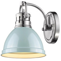 Golden Lighting Duncan 1 Light Bath Vanity in Chrome 3602-BA1-CH-SF