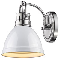 Golden Lighting Duncan 1 Light Bath Fixture in Chrome 3602-BA1-CH-WH