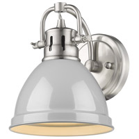 Golden Lighting 3602-BA1-PW-GY Duncan PW 1 Light 7 inch Pewter Bath Fixture Wall Light in Grey