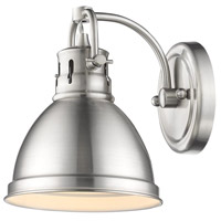 Duncan 1 Light 7 inch Pewter Bath Vanity Wall Light