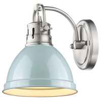 Golden Lighting Duncan 1 Light Bath Fixture in Pewter 3602-BA1-PW-SF