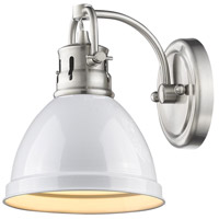 Golden Lighting Duncan 1 Light Bath Vanity in Pewter 3602-BA1-PW-WH