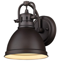 Duncan 1 Light 7 inch Rubbed Bronze Bath Vanity Wall Light