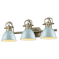Duncan 3 Light 25 inch Aged Brass Bath Vanity Wall Light