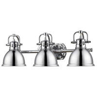 Duncan 3 Light 25 inch Chrome Bath Vanity Wall Light