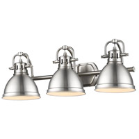 Golden Lighting Duncan 3 Light Bath Vanity in Pewter 3602-BA3-PW-PW
