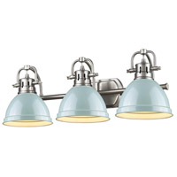Golden Lighting Duncan 3 Light Bath Fixture in Pewter 3602-BA3-PW-SF