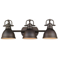 Golden Lighting Duncan 3 Light Bath Fixture in Rubbed Bronze 3602-BA3-RBZ-RBZ