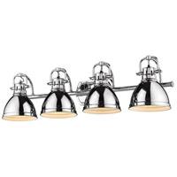 Golden Lighting 3602-BA4 CH-CH Duncan 34 inch Chrome Vanity Lighting Wall Light
