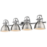 Golden Lighting 3602-BA4 CH-PW Duncan 34 inch Chrome Vanity Lighting Wall Light