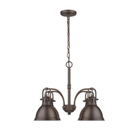 Golden Lighting Duncan 4 Light Mini Chandelier in Rubbed Bronze 3602-D4-RBZ-RBZ