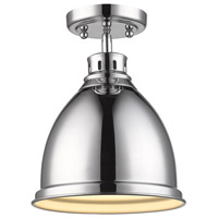Duncan 1 Light 9 inch Chrome Flush Mount Ceiling Light