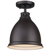 Golden Lighting Duncan 1 Light Flush Mount in Rubbed Bronze 3602-FM-RBZ-RBZ