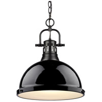 Duncan 1 Light 14 inch Black Pendant Ceiling Light