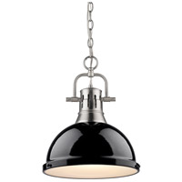 Duncan 1 Light 14 inch Pewter Pendant Ceiling Light in Black