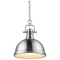 Golden Lighting Duncan 1 Light Pendant in Pewter 3602-L-PW-PW