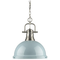 Duncan 1 Light 14 inch Pewter Pendant Ceiling Light in Seafoam