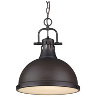 Golden Lighting Duncan 1 Light Pendant in Rubbed Bronze 3602-L-RBZ-RBZ