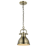 Duncan 1 Light 7 inch Aged Brass Mini Pendant Ceiling Light