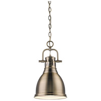 Golden Lighting 3602-S-AB-AB Duncan 1 Light 9 inch Aged Brass Mini Pendant Ceiling Light alternative photo thumbnail