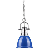 Golden Lighting Duncan 1 Light Mini Pendant in Chrome 3602-S-CH-BE