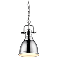 Golden Lighting Duncan 1 Light Mini Pendant in Chrome 3602-S-CH-CH