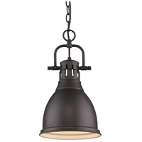 Duncan 1 Light 9 inch Rubbed Bronze Mini Pendant Ceiling Light