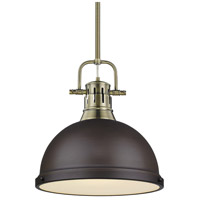Duncan 1 Light 14 inch Aged Brass Pendant Ceiling Light