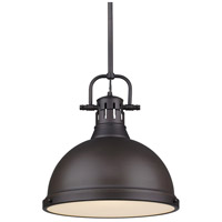 Golden Lighting Duncan 1 Light Pendant in Rubbed Bronze 3604-L-RBZ-RBZ