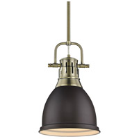 Duncan 1 Light 9 inch Aged Brass Mini Pendant Ceiling Light