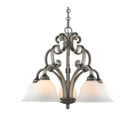 Golden Lighting Rockefeller 5 Light Chandelier in Peruvian Silver 3711-D5-PS
