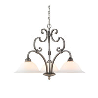 Golden Lighting Rockefeller 3 Light Chandelier in Peruvian Silver 3711-ND3-PS