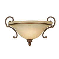 Golden Lighting Rockefeller 1 Light Wall Sconce in Champagne Bronze with Tea Stone Glass 3711-WSC-CB