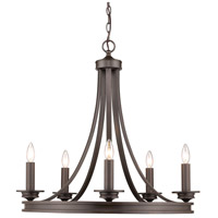 Golden Lighting 3863-5-RBZ Saldano 5 Light 28 inch Rubbed Bronze Chandelier Ceiling Light