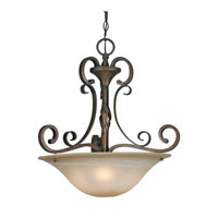 Golden Lighting Meridian 3 Light Pendant in Golden Bronze 3890-3P-GB