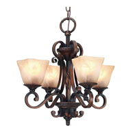 Golden Lighting Meridian 4 Light Mini Chandelier in Golden Bronze with Antique Marbled Glass 3890-GM4-GB photo thumbnail