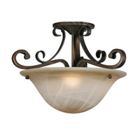 Golden Lighting Meridian 3 Light Convertible Semi-Flush in Golden Bronze with Antique Marbled Glass 3890-SF-GB alternative photo thumbnail