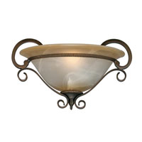 Golden Lighting Meridian 1 Light Wall Sconce in Golden Bronze with Antique Marbled Glass 3890-WSC-GB