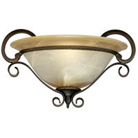 Meridian 1 Light 15 inch Golden Bronze Wall Sconce Wall Light
