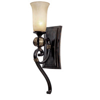 Golden Lighting Portland 1 Light Bath Vanity in Fired Bronze 3966-BA1-FB