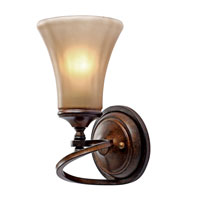 Golden Lighting Loretto 1 Light Wall Sconce in Russet Bronze 4002-1W-RSB