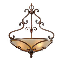 Loretto 3 Light 23 inch Russet Bronze Pendant Ceiling Light, Bowl